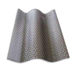 Πολυκαρβονικό συμπαγές κυματοειδή διαμόρφωση - κυψέλη - γκρι διάφανο - Theoprofil.com