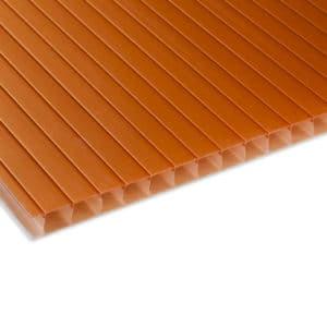 Πολυκαρβονικό κυψελωτό θερμοανάκλασης polyshade χαλκού - Theoprofil.com